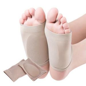 Gel de Silicone Fascite plantar Arch Suporte Luva Arch Meias Calcanhar spur Almofada Plana Pé Sapato Pad Cuidados Com Os pés saúde palmilha arco