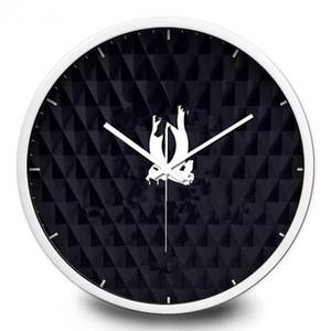 ¡Nuevo! Reloj de pared patrón clásico Marco de metal con el logotipo famoso reloj de pared negro buena calidad 30cm / 35cm 12 pulgadas / 14 pulgadas