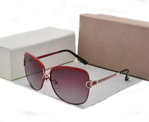 Polarizada óculos de sol das mulheres designer de marca cor gradiente óculos de sol óculos de sol retro uv400 óculos gafas de sol com caso de varejo e bo