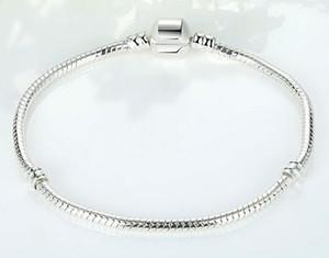 Classic Fashion Link Bracciali Europe Style Placcatura 925 Silver Snake Chain Catenacci a molla Bracciali fai-da-te Braccialetti Accessori Gioielli