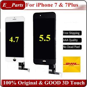 (100% Original) Original backlight + original ic + perfect 3d touch display completo digitador assembléia completa para iphone 7 iphone 7 plus lcd