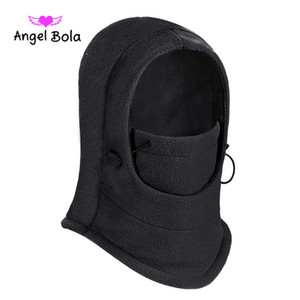 Promosyon Çok renkli Erkekler Kadınlar Kış Kadife Windproof Hood Baş Hood Şapka Doğa Sporları Şapka