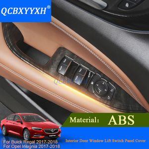 QCBXYYXH 4 pcs Car-styling Para Buick Regal Opel Insignia 2017 2018 Interruptor Da Janela Da Porta Interruptor Do Elevador Painel de Acabamento Guarnição Decoração