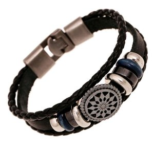 Hot Selling Men Style Weave Braided Handmade Buckle Close Vintage Europe Leather Bracelets for Sale New Fashion Jewelry
