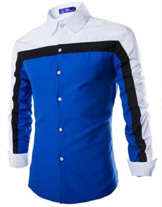 Wholesale- European and American men casual refreshing personality three long sleeved shirt
