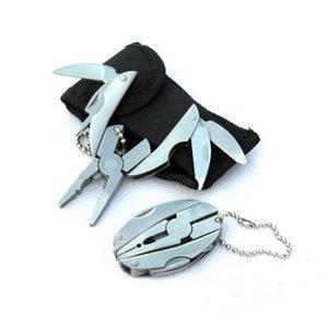 Atacado-Alta Qualidade Multi Função Folding Pocket Tools Alicate Knife chave de fenda chaveiro + Case Set Outdoor Camping Portfolio Tools
