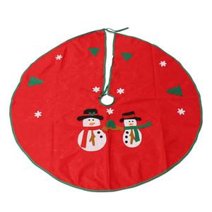 Al por mayor- 90cm Snowman Christmas Tree Skirt Stands Adornos Fiesta de Navidad Decoración Feliz Navidad Feliz Año Nuevo