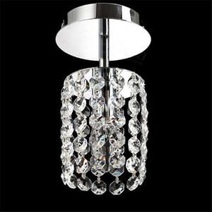 NUEVA K9 Lámpara de araña de cristal E14 Lámpara de suspensión de una sola cabeza LED Cadena colgante Moderno plateado para sala de estar comedor dormitorio 110 V / 220 V