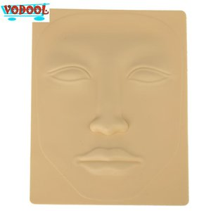 Wholesale- 2016 Hot Selling  Cosmetic Facial Tattoo 3D Silicone Permanent Face Skin Facial Mask Set for Practice Model