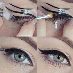 Free Shipping 220pcs of Beauty Cat Eyeliner Models Smokey Eye Stencil Template Shaper Eyeliner Makeup Tool