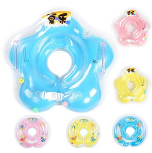 2pcs lot Free Shipping swimming baby accessories swim neck ring baby Tube Ring Safety infant neck float circle for bathing Inflatable
