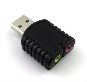 USB Sound Card Внешняя звуковая карта USB2.0 Стерео звуковой адаптер Аудио интерфейс Tarjeta de Sonido SoundCard для настольного компьютера / ноутбука