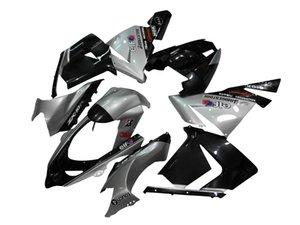 Motorrad Rahmen Spritzguss Komplette Karosserie Verkleidung Kit für 2004 2005 ZX-10R ZX10R 04 05 Silber Schwarz
