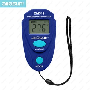 Tamaño de bolsillo Termómetro infrarrojo Medidor digital de temperatura Probador de temperatura láser sin contacto Pantalla LCD Todo el Sol EM512