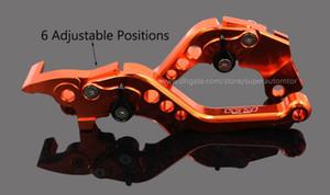 Orange CNC T6063 Aluminum Brake Clutch Levers Motorcycle Racing Adjustable lever for KTM DUKE 125 200 390