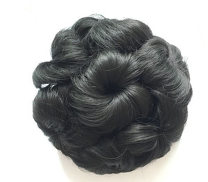 Clip In On synthetic hair flowers hair bun chignons