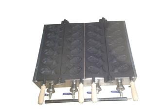 Ücretsiz kargo Gaz tipi 12 adet balık waffle makinesi Taiyaki makinesi