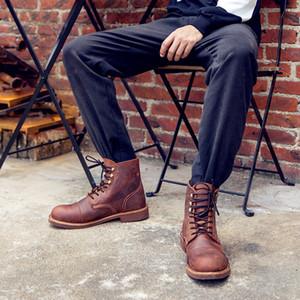 Новые ботинки Bullock прибытия прибытия красного цвета, Handmade крыла весны неподдельные кожаные сапоги людей, вскользь британский тип ботас Hombre Y8111