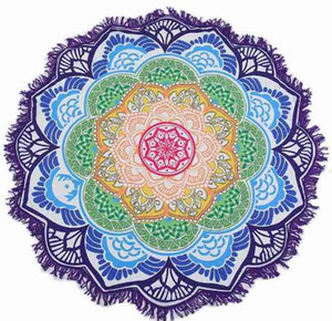 unisex Summer Thin Round Mandala tapestry Hippie Pareo boho Tapestries Wrap shawl Throw Towel blanket Mat Beach Cover Up Scarf G395