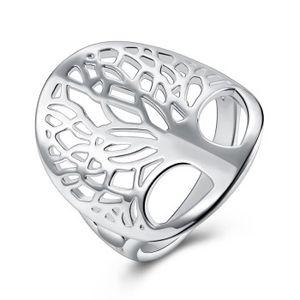 Mode Baum des Lebens Ring 925 Sterling Silber überzogene hohle Lebensbaum Ringe für Frauen Schmuck LKNSPCR891