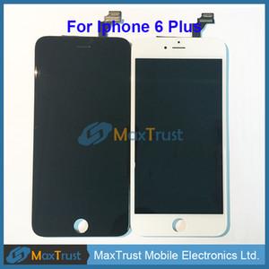 Top Quality Para iPhone 6 6G / 6 Plus display LCD e Touch Screen digitalizador Monte Negro Cor Branca
