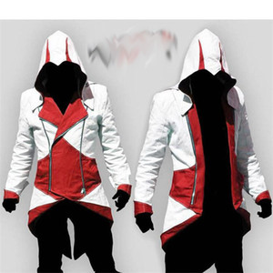Nuovo caldo all'ingrosso Assassins Creed 3 Cosplay Soprabito 12 colori moda Assassin Creed Fantastico Uomo Top Slim Jacket Connor