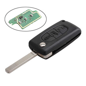 3Buttons 433mhz Replacement Car Remote Key Shell Case Cover With Battery For PEUGEOT CITROEN