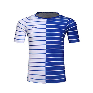 Li-Ning para hombre camisetas de bádminton de secado rápido forro transpirable jersey deportivo camiseta deportiva Li Ning tenis de mesa ropa AAYK299