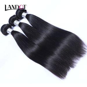 Камбоджийские прямые девственные человеческие волосы ткать пучки дешевые необработанные камбоджийские Реми человеческих волос расширения природных черный клубок бесплатно 3/4/5 шт.