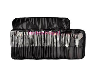 블랙 핑크 레드 고품질 전문 24 PC의 메이크업 브러쉬 세트 가죽 파우치 DHL과 매력적인 핑크 / 블랙 화장품 아이 섀도우 브러쉬