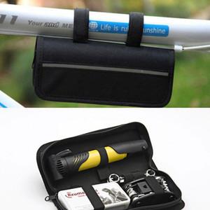 Outils de réparation de vélos Sahoo multifonctions Sahoo à vélo, ensemble de réparation avec sac de pompe noir