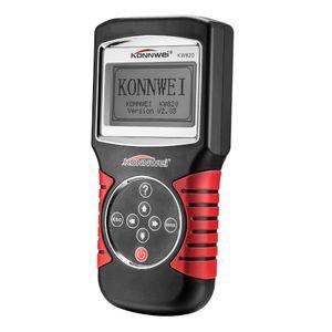 진단 도구 KONNWEI KW820 자동차 스캐너 EOBD OBD2 OBDII 다국어 메뉴 대형 백라이트 LCD 화면 라이브 코드 리더