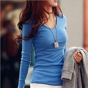 Wholesale- Blusas Tops 2016 Women Roupas Femininas Plus Size Women's Long Sleeve Tees Women Clothing Womens T-Shirt For Women T Shirt