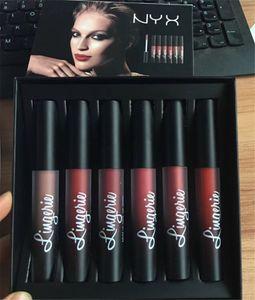New Arrival NYX Lingerie Liquid Matte Lipstick 6pcs set Luxury Velvet Matte Nude Lip Gloss hot sale