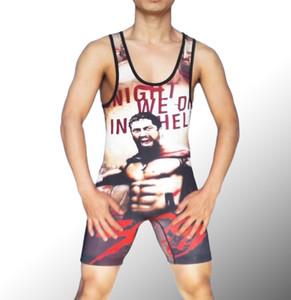 Spartacus Guerreiros Sefl Personalizado 300 Soldados Wrestling Singlete Wrestling Halterofilismo Trunk Man Ginásio Calças Justas