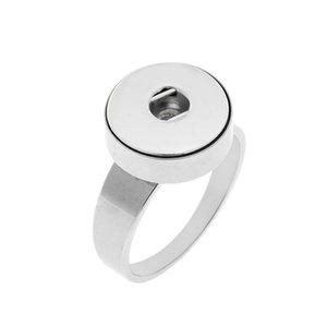 Noosa 덩어리 스테인리스 강철 12mm 스냅 버튼 반지 크기 7-10 반지 버튼 생강 스냅 매력 보석에 대한