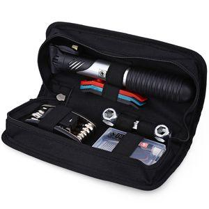 Utensili per biciclette Duuti Mini pompa pieghevole 15 in 1 gomma della bicicletta pneumatico di riparazione del sacchetto strumenti multifunzionali Ciclismo Tool Bag Set Kit + B