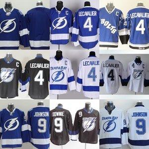 Фабрика Outlet мужская Тампа Бэй освещение #4 Lecavalier #9 Тайлер Джонсон #9 Dovonie #пустой синий белый новые хоккейные майки бесплатная доставка