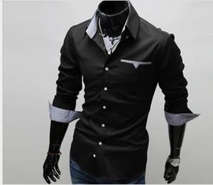 Рубашки свободных людей свободной перевозкы груза новые вскользь тонкие приспосабливают стильные рубашки рубашек сбывания людей с длинными рукавами