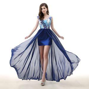 Neue Ankunft Weiß Schatz ziper Backless Pailletten Perlen Seite Split Atemberaubende Abendkleid Junior Graduation Dresses