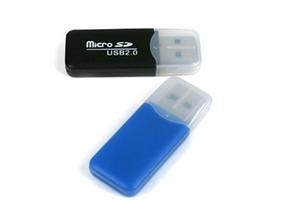 Atacado memória do telefone leitor de cartão de leitor de cartão TF móvel pequeno multi-purpose de alta velocidade USB 2.0 Micro SD Card Reader