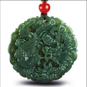 Neue Mode-Design unabhängige natürliche echte Hetian Jade Jade Drachen Marke Drachen Jade Anhänger der Liebhaber