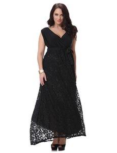 Venda quente tamanho grande 2017 verão novo estilo europeu da estrela da moda vestidos de renda preta feminina roupas femininas festa sexy evening dress mangas