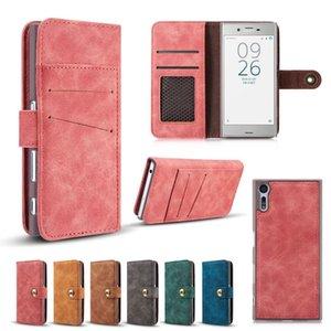 خمر جلدية متعددة الوظائف المحفظة بطاقة جيب فليب غطاء القضية لسوني اريكسون XZ F8331 الأزياء مات الحالات الجلدية