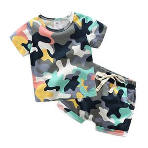 Erkek bebek giysileri 2017 yaz kıyafetler Pamuk T-shirt Tops + Şort Moda Çocuklar çocuk günü hediye Rahat Giyim Setleri