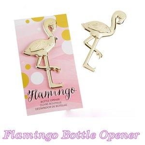 Gold Metall Flamingo Flasche Wein Bier Öffner Jubiläum Bevorzugungen Geschenke Hochzeit Kithen Bar liefert anwesend