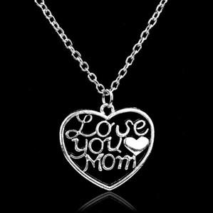 Jóias Presentes do Dia das Mães para Mamãe Amor Você Mamãe Coração Pingente Colar Chaio De Forma Para Mamãe de Son Daugter