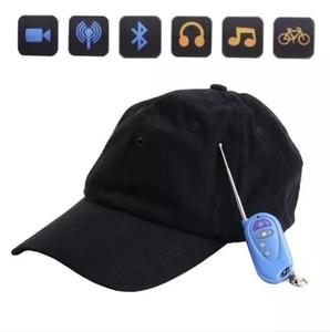 Кепка Камера с MP3-плеером Bluetooth Пульт ДУ HD кепка мини DVR Шляпка для камеры видеонаблюдения Видеонаблюдение черный
