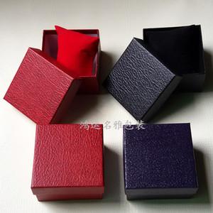 2017 imitazione modello in pelle litchi vigilanze scatola di imballaggio scatola regalo gioielli logo supporto personalizzato
