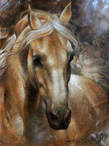 Animal cavalo, genuíno Pure Pintados À Mão animal Art pintura A Óleo Sobre Tela Grossa Multi Tamanhos Frete Grátis ny